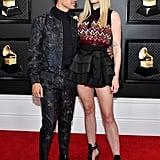 Sophie Turner's Louis Vuitton Minidress at the Grammys 2020