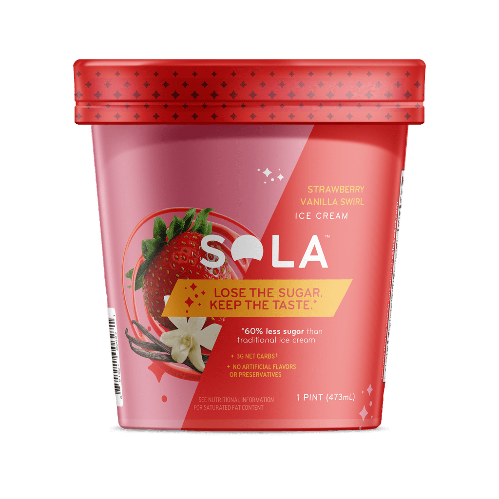 Sola Strawberry Vanilla Ice Cream