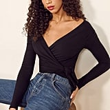 Reformation Cherie Wrap Top