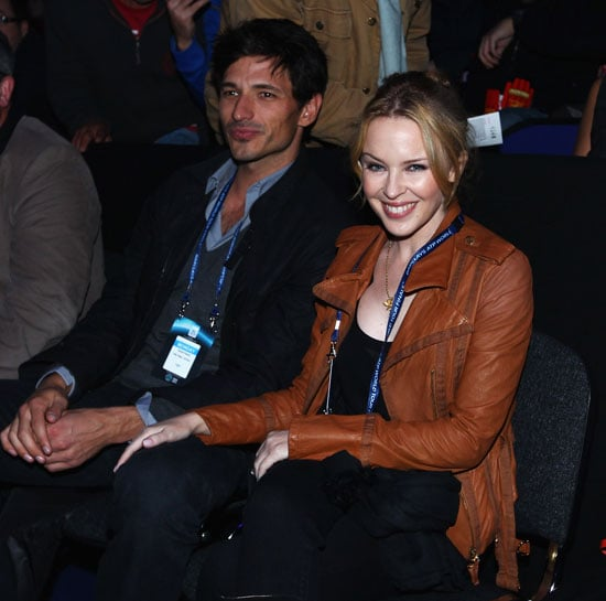 Pictures of Kylie Minogue and Andres Velencoso at ATP World Tour Finals in London