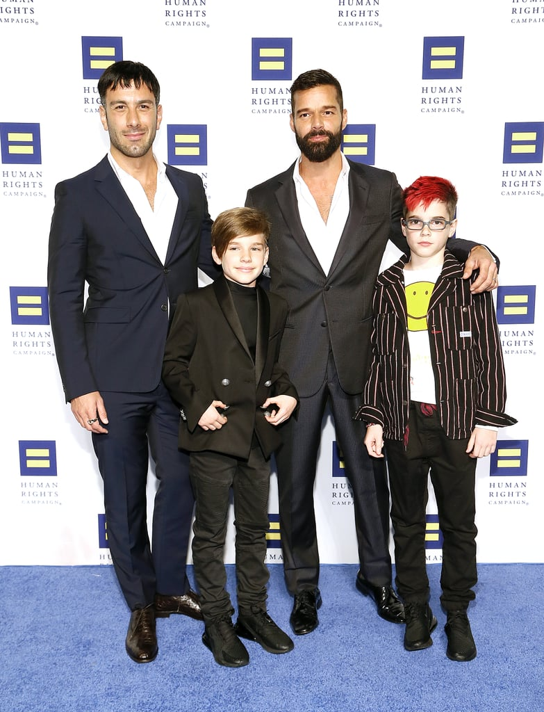 "Ricky Martin keeps things pretty buttoned up when it comes to his three kids and social media. Although we get glimpses of his twin sons here and there, the daughter he shares with husband Jwan Yosef — whom he married in 2017 — wasn't shown on Instagram at all (minus a hand or foot here and there) until she was 7 months old. There's no telling whether Ricky will start sharing more about his kids online, so for now, we're soaking up the photos he has shared of his three adorable children. Ricky said in an interview with Out Magazine that he's adamant his blended, nontraditional family be an inspiration to others: ""I want people to look at me and see a family and say, 'There's nothing wrong with that.' It's part of my mission. It's part of my kids' mission as well. My kids ask me about having two daddies and I tell them we are a part of a modern family. This is a beautiful sense of freedom."" Keep reading to learn more about all of Ricky's kids.      Related:                                                                                                           Damn, Chrissy Teigen and John Legend's 2 Kids Seriously Look Just Like Their Dad"