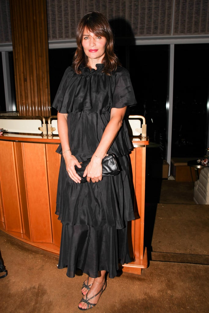 At Vanity Fair's Top of the Standard event, Helena Christensen stood out in head-to-toe black.