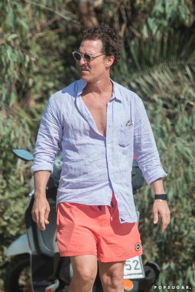 Matthew McConaughey Shirtless in Greece Pictures June 2019