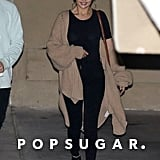 Selena Gomez's Black Ankle Boots With Chains