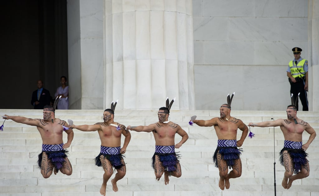 Dancers performed on the steps during the Let Freedom Ring Commemoration and Call to Action in Washington DC.