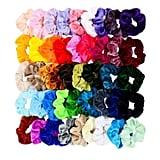 Chloven 45 Piece Hair Scrunchie Set