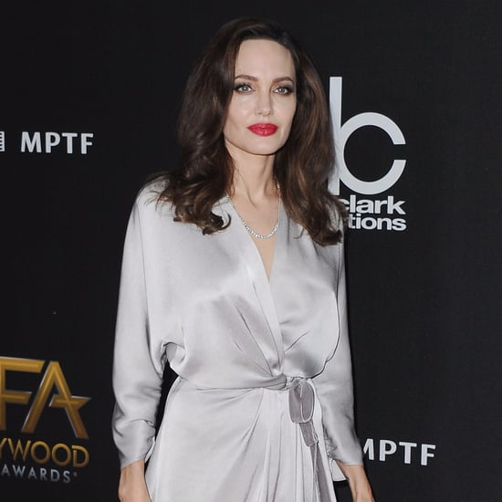 Angelina Jolie's Silver Jenny Packham Dress