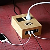 Personalized Bamboo Covered Power Strip