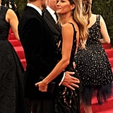 They held on to each other's backsides on the red carpet.