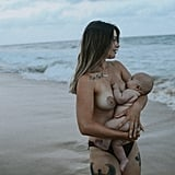 Full Moon Breastfeeding Photo Shoot