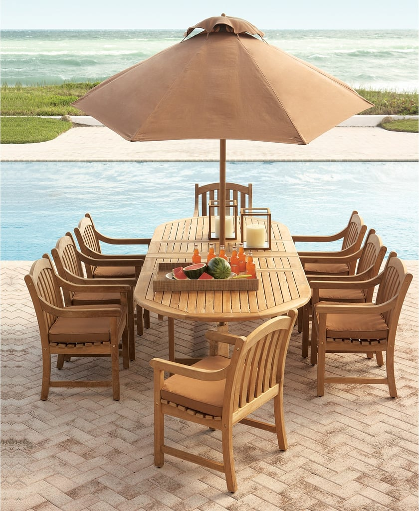 Furniture Bristol Outdoor Teak 9-Piece Dining Set