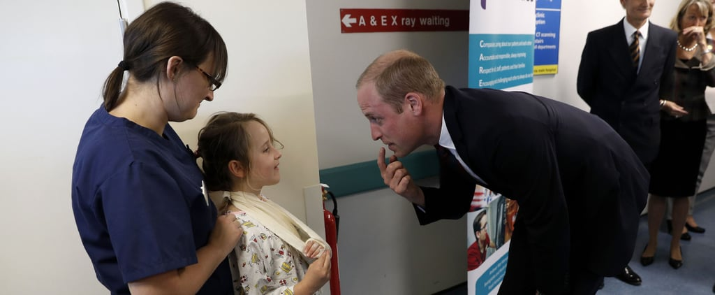 Prince William Bonds With a Little Girl Over Her Missing Tooth During a Hospital Visit
