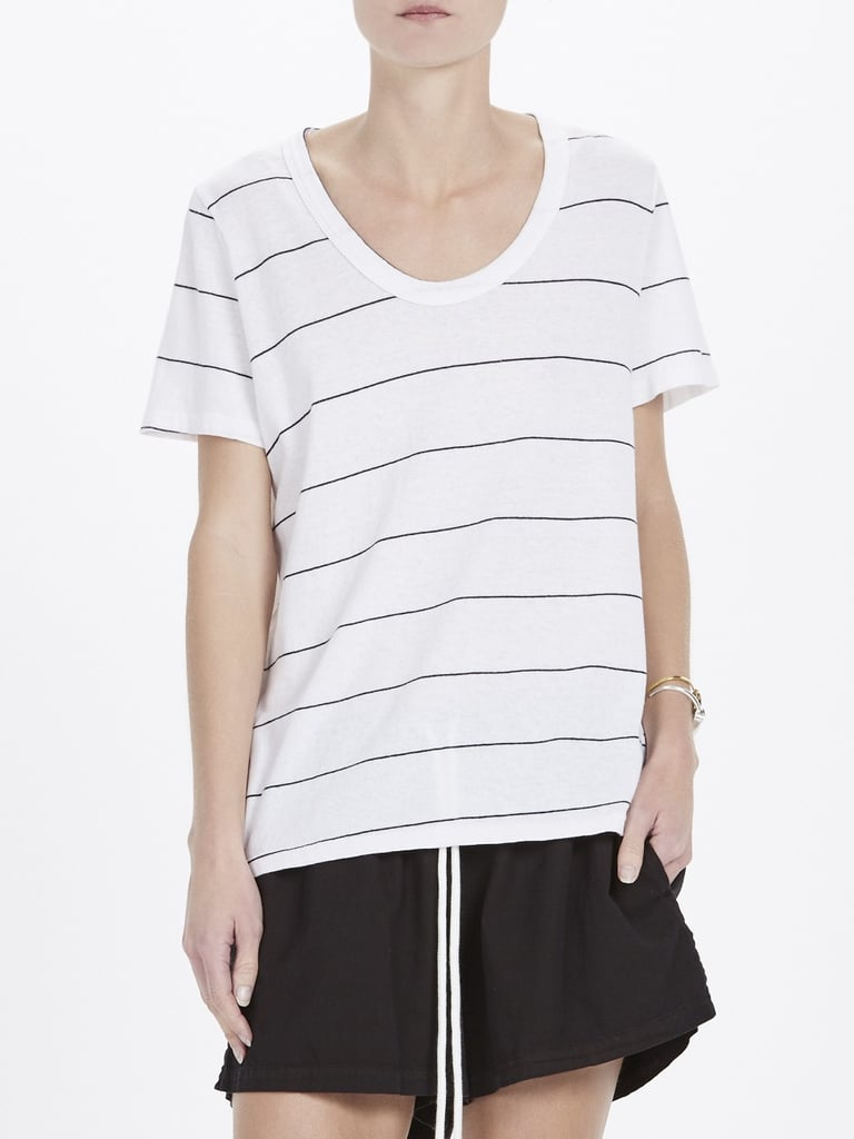Stripe Scoop Neck T Shirt, $90