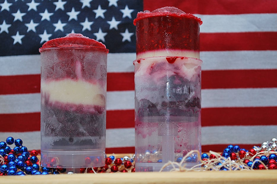 Red, White, and Blue Push-Up Pops