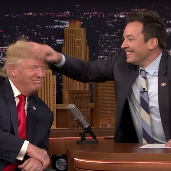 Jimmy Fallon Messes Up Donald Trump's Hair Video 2016