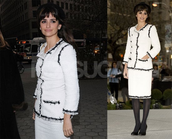 Photos of Penelope Cruz at the opening of the Unbreakable Kiss Mistletoe Installation in NYC
