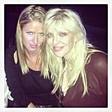 Nicky Hilton sat front row with Courtney Love at the Alexander Wang runway show. Source: Instagram user nickyhilton
