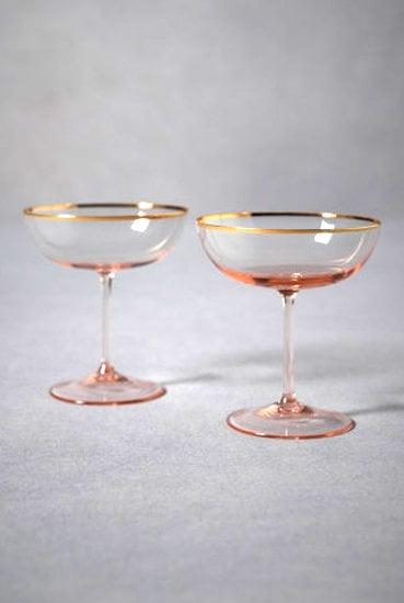 Gilded Champagne Flutes