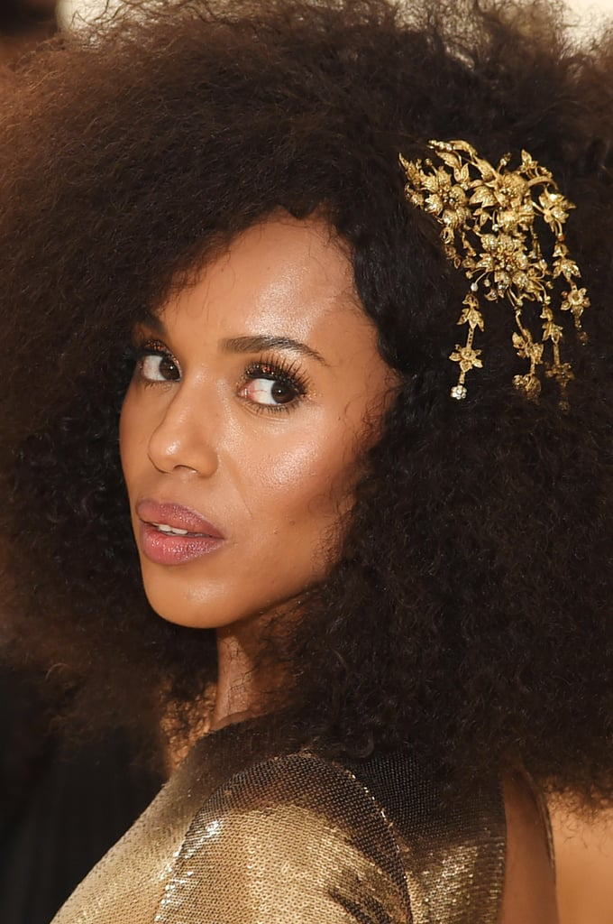Kerry Washington Hair and Makeup at the Met Gala
