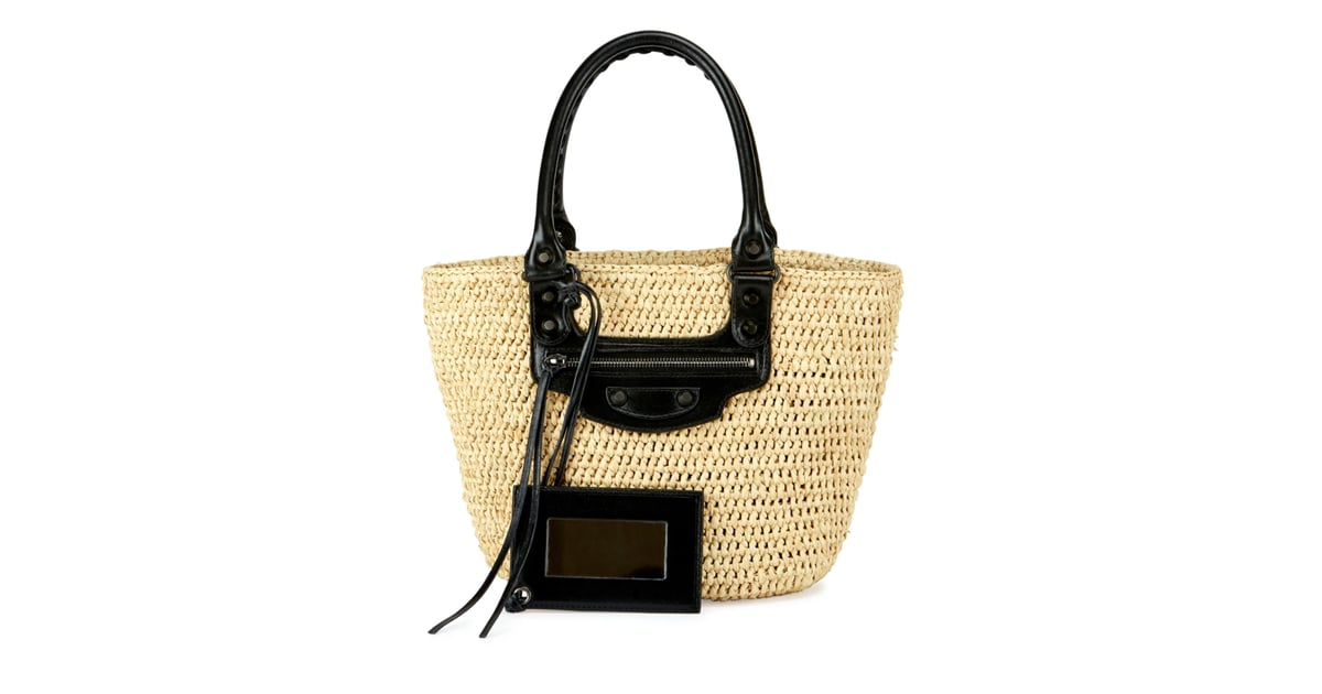 ebcd67a553e Raffia goes luxe with Balenciaga's Panier tote bag ($945). | Spring Bag  Trends 2017 | POPSUGAR Fashion Photo 6
