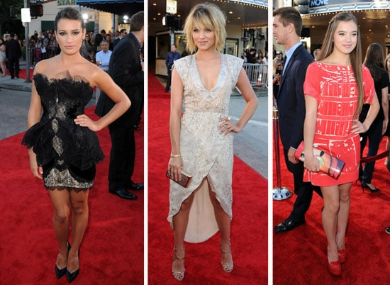 Pictures of Glee Cast on the Red Carpet at Glee 3D Movie Premiere, Including Lea Michele, Dianna Agron, Hailee Steinfeld & more