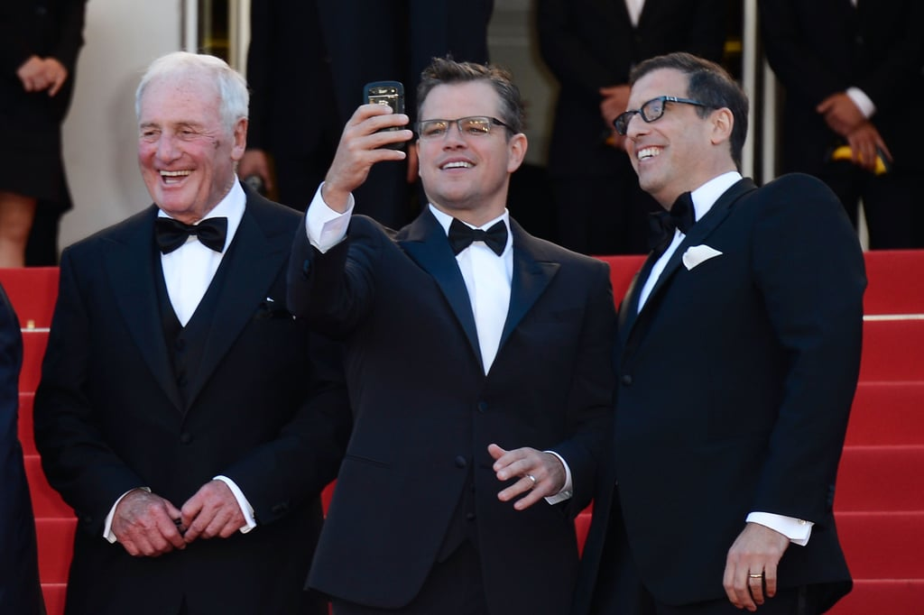 Matt Damon chatted with producer Jerry Weintraub and writer Richard Lagravenese at the premeire.