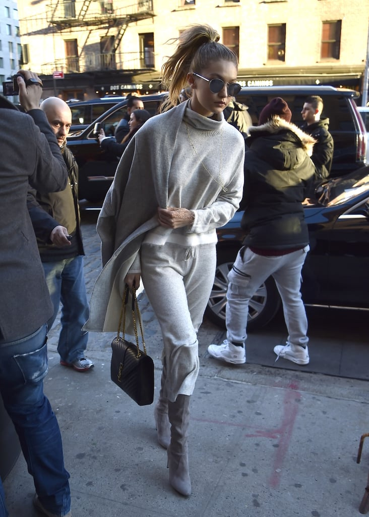 Gigi Hadid Just Wore One Ridiculously Fancy Sweatsuit