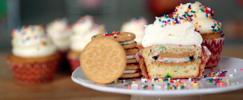 Oreo-Stuffed Funfetti Cupcakes Recipe