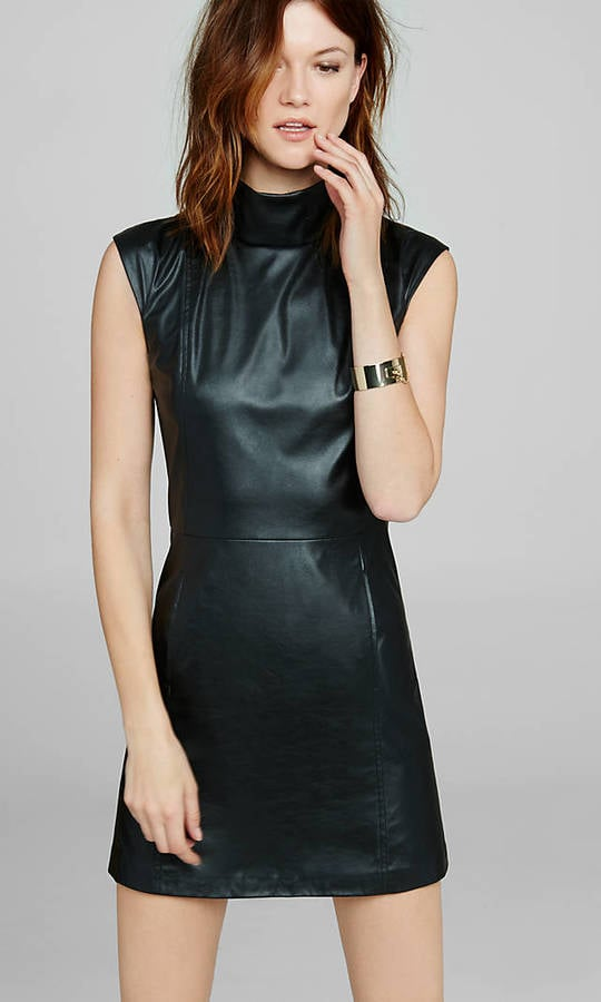 (Minus The) Leather Mock Neck Shift Dress ($88)