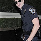 Chord Overstreet was a smiley police officer.