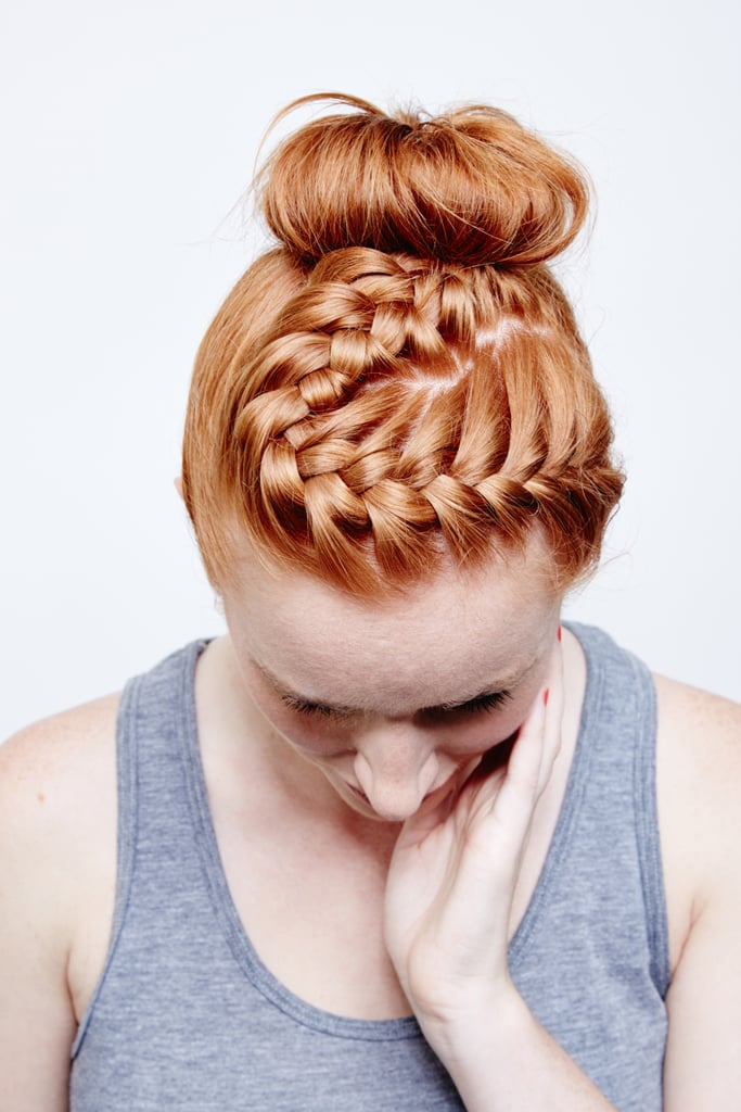 DIY the Braided Bun That Seriously Won't Budge While You Work Out