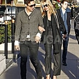 Kate Moss enjoyed the late-afternoon sun in Paris with Jamie Hince.