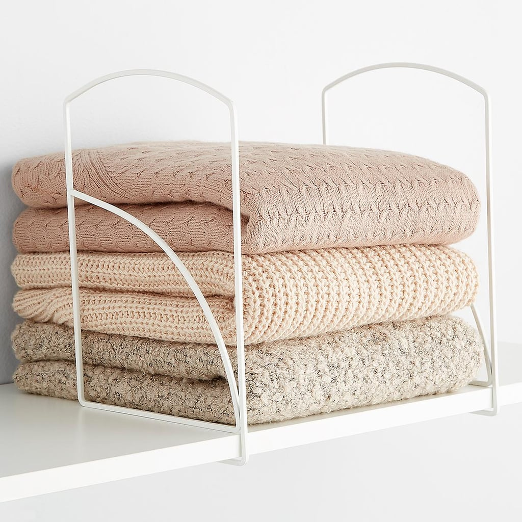 Lynk Tall White Solid Shelf Dividers