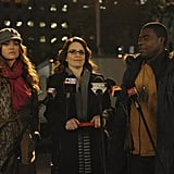 Liz Lemon joins the cause with Richards and Tracy.  Photo courtesy of NBC