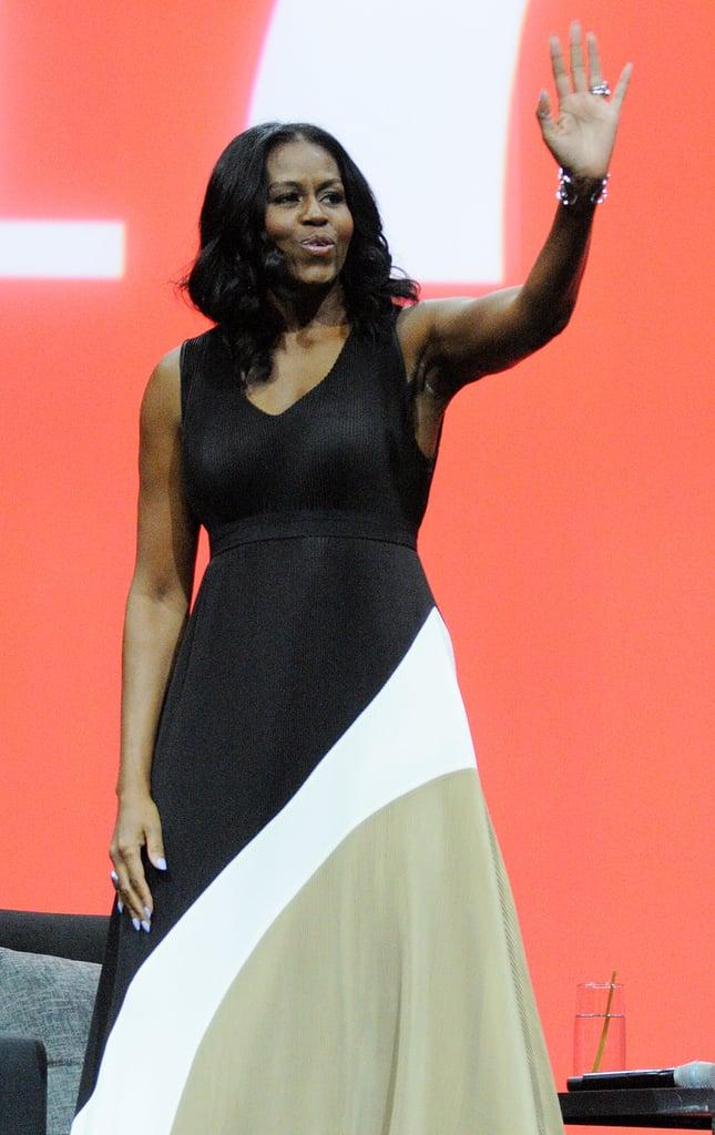 Michelle Obama Colorblock Maxi Dress