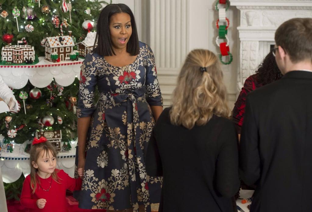 Michelle Obama's Holiday Dress Nov. 2016