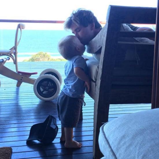 Elsa Pataky's Photo of Chris Hemsworth Kissing His Kid 2015