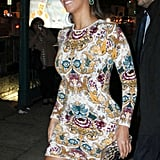 Beyoncé Knowles stepped out in a short dress in NYC.