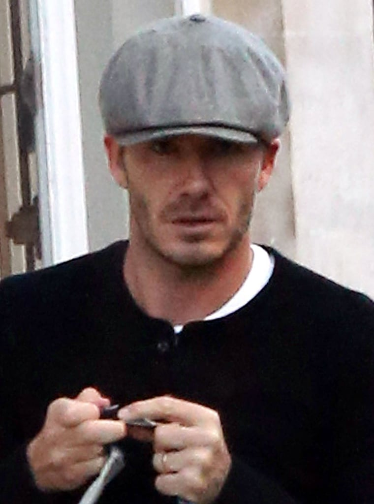 David Beckham Tries His New Paris Uniform on For Size