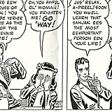 "Sanjak in Terry and the Pirates While the character didn't explicitly come out of the closet, cartoonist Milton Caniff alluded to the homosexual orientation of French naval officer Sanjak in the 1938 to 1939 edition of his comic Terry and the Pirates. The villainous woman disguises herself as a man and calls herself Madame Sud, then essentially hits on the protagonist's girlfriend, April Kane. Milton said in those days you couldn't have an outed homosexual character in a comic, but he hinted at Sanjak being gay. He even named her after a Greek island next to the island of Lesbos, from which the word ""lesbian"" is derived."