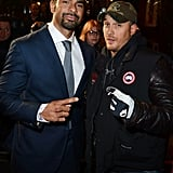 Tom Hardy and David Haye posed for the cameras.