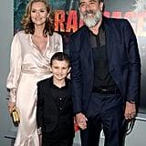 Jeffrey Dean Morgan and Hilarie Burton at Rampage Premiere