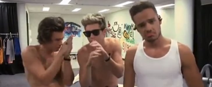 Harry Styles and One Direction Guys Shirtless in Music Video