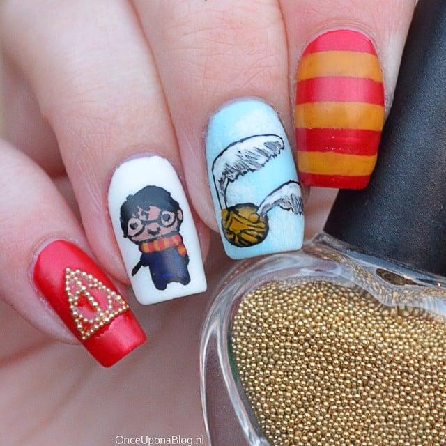 Harry Potter Nail Art Ideas Popsugar Beauty