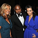 Kim Kardashian wore a blue gown to attend the Angel Ball in New York City.