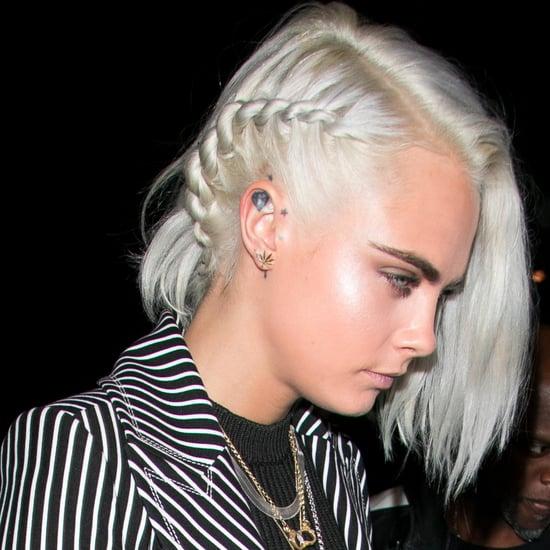 Cara Delevingne Silver Hair 2017