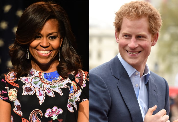 Michelle Obama and Her Daughters Have Tea With Prince Harry