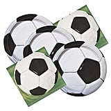Soccer Ball Themed Birthday Party Plates & Napkins