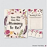 How Old Was the Mommy-to-Be Printable Game
