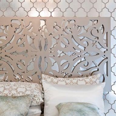 Champagne Lace Pattern Wall Art ($399)